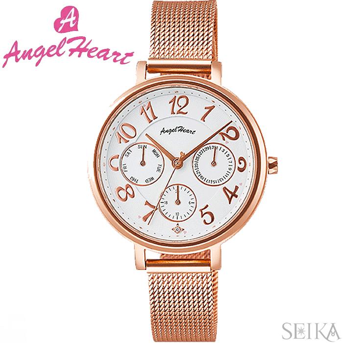 (ショップ袋付)エンジェルハート ANGEL HEARTウィッシュスター WS33PG時計 腕時計 レディース ピンクゴールド メッシュベルト(ty1)