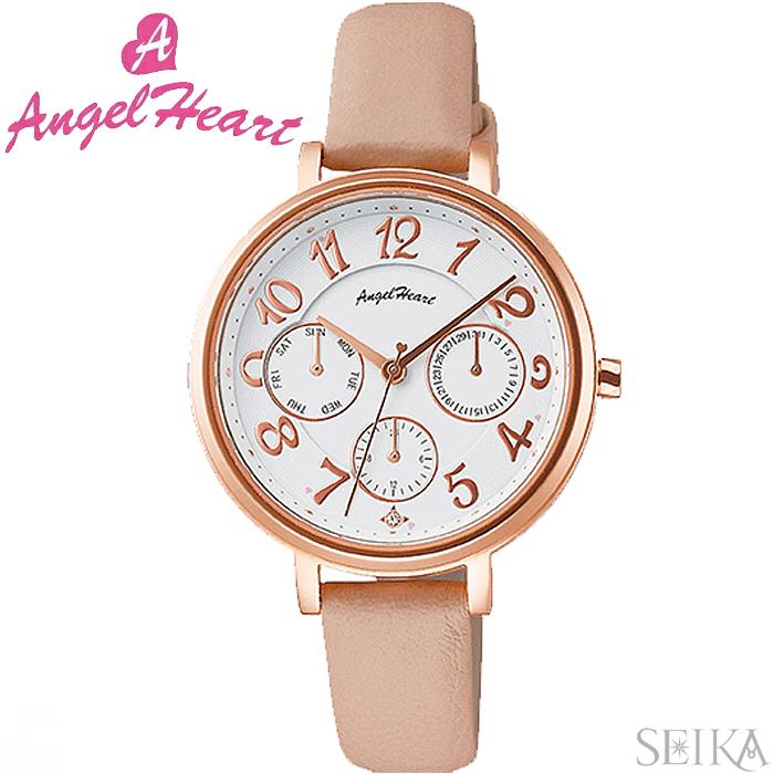 (ショップ袋付)エンジェルハート ANGEL HEARTウィッシュスター WS33P-PK時計 腕時計 レディース ピンク レザー(ty1)