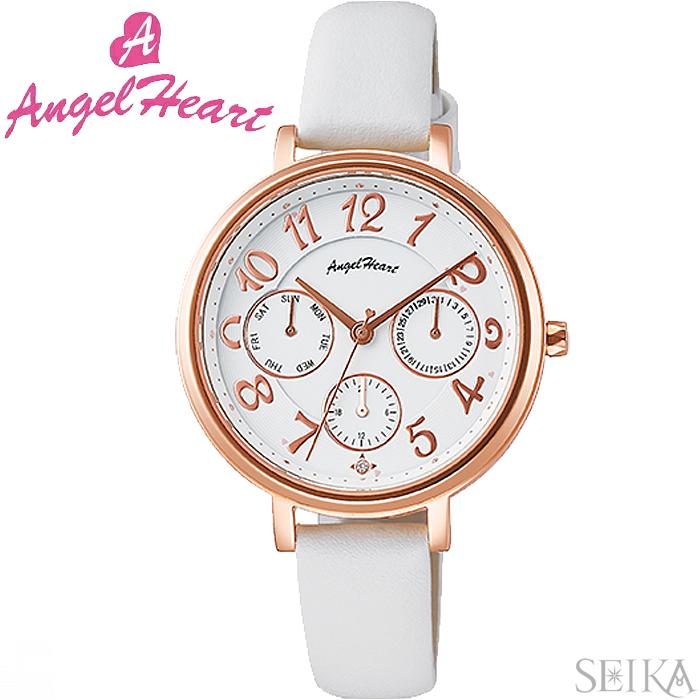 (ショップ袋付)エンジェルハート ANGEL HEARTウィッシュスター WS33P-WH時計 腕時計 レディース ホワイト レザー(ty1)