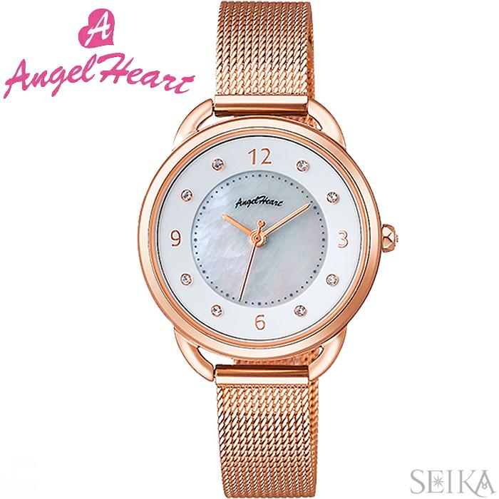 (ショップ袋付)エンジェルハート ANGEL HEART吉岡里帆コラボモデル YR31PG時計 腕時計 レディース ピンクゴールド メッシュベルト(ty1) ピンクゴールドの腕時計