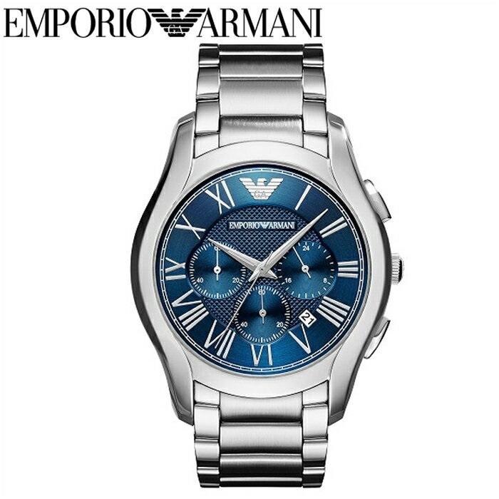エンポリオアルマーニ EMPORIO ARMANIAR11082 腕時計 時計 メンズブルー シルバー バレンテ クロノグラフ コレクション