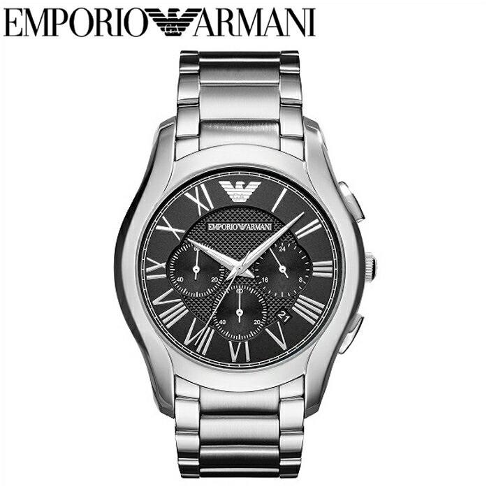 エンポリオアルマーニ EMPORIO ARMANIAR11083 腕時計 時計 メンズブラック シルバー バレンテ クロノグラフ コレクション