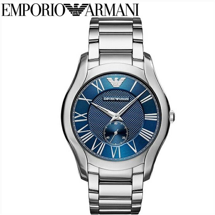 【商品入れ替えクリアランス】エンポリオアルマーニ EMPORIO ARMANIAR11085 腕時計 時計 メンズブルー シルバー バレンテ コレクション 青い腕時計