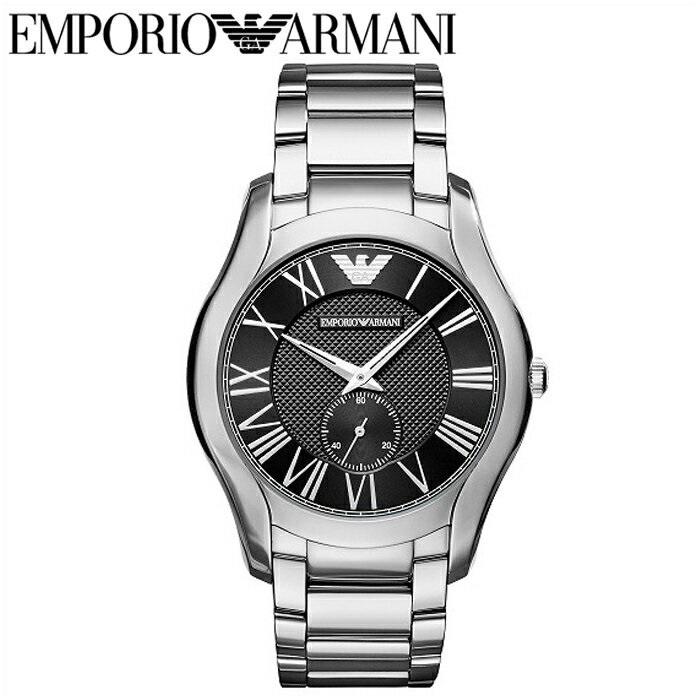 【商品入れ替えクリアランス】エンポリオアルマーニ EMPORIO ARMANIAR11086 腕時計 時計 メンズブラック シルバー【G2】