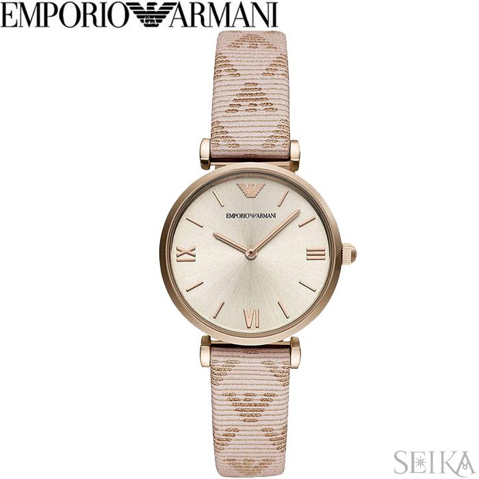 エンポリオアルマーニ EMPORIO ARMANI AR11126時計 腕時計 レディース ピンク レザー
