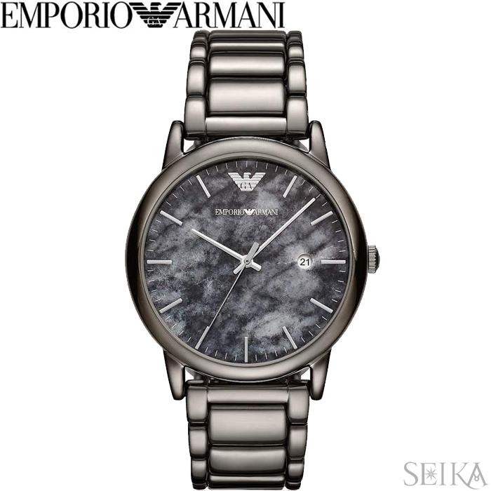 エンポリオアルマーニ EMPORIO ARMANI AR11155時計 腕時計 メンズ ガンメタル 大理石柄