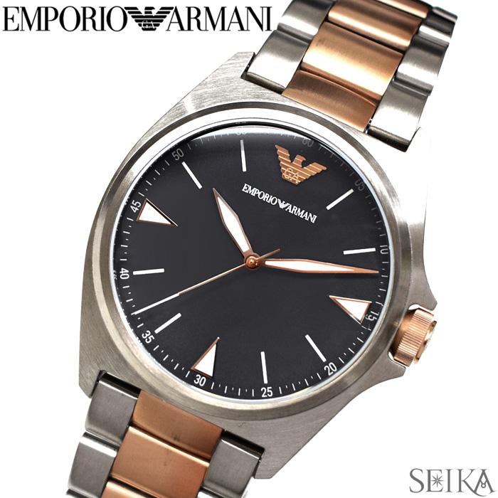 【レビューを書いて5年保証】エンポリオアルマーニ EMPORIO ARMANIAR11256 腕時計 時計 メンズグレー シルバー×ローズゴールド【3X02】 ギフト