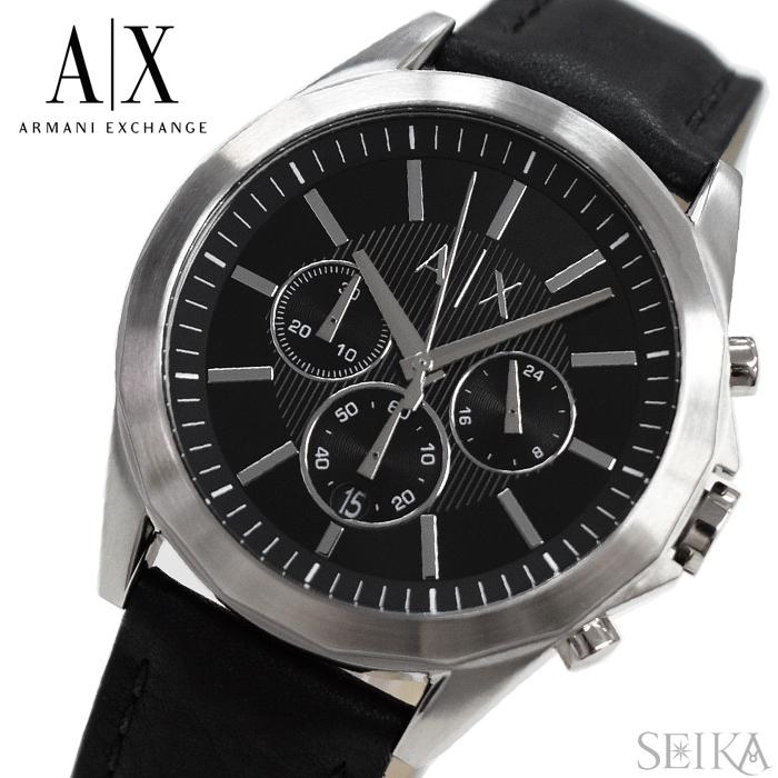 アルマーニエクスチェンジ ARMANI EXCHANGE AX2604時計 腕時計 メンズ ブラック レザー