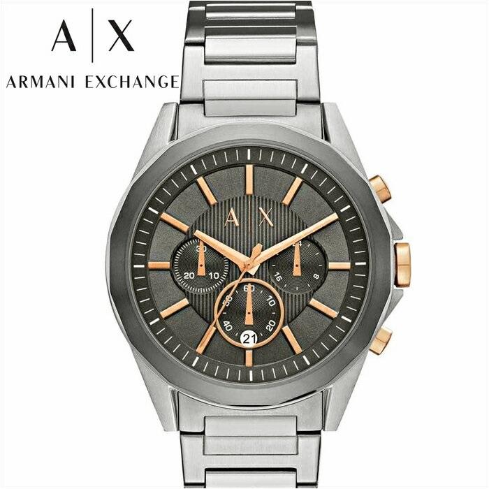 アルマーニエクスチェンジ ARMANI EXCHANGE AXAX2606 腕時計 時計 メンズグレー×ピンクゴールド シルバー【ID】