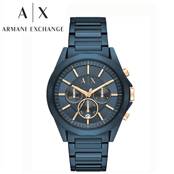 アルマーニエクスチェンジ ARMANI EXCHANGE AXAX2607 腕時計 時計 メンズブルー ピンクゴールド【ID】