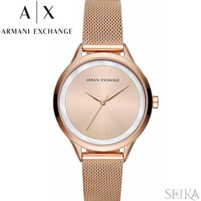 【レビューを書いて5年保証】【スプリングクリアランス】アルマーニエクスチェンジ ARMANI EXCHANGE AX5602時計 腕時計 レディース ピンクゴールド メッシュ ピンクゴールドの腕時計 ホワイトデー