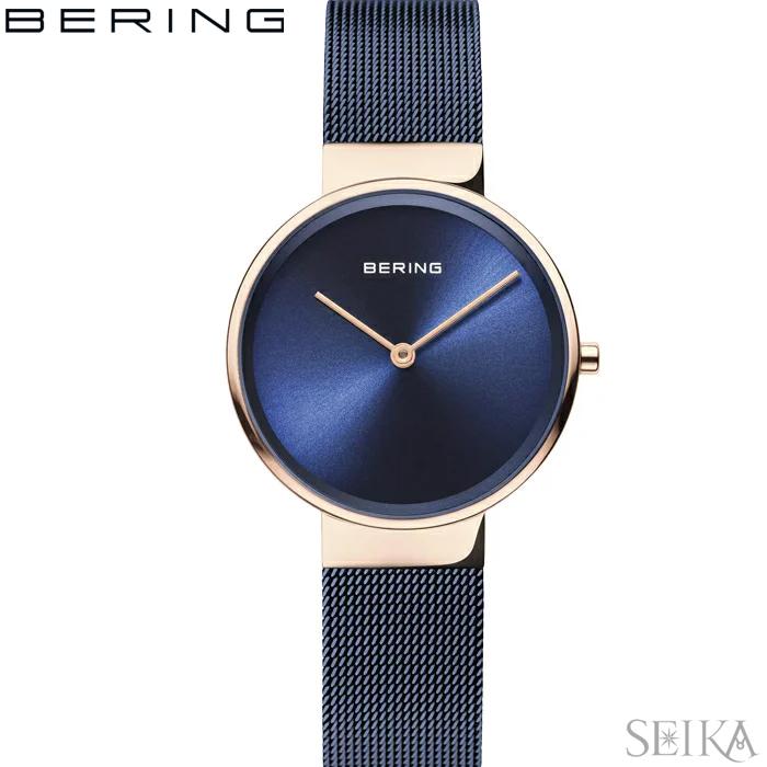 ベーリング BERING 14531-367(31)腕時計 時計 レディース ピンクゴールド ネイビー メッシュ