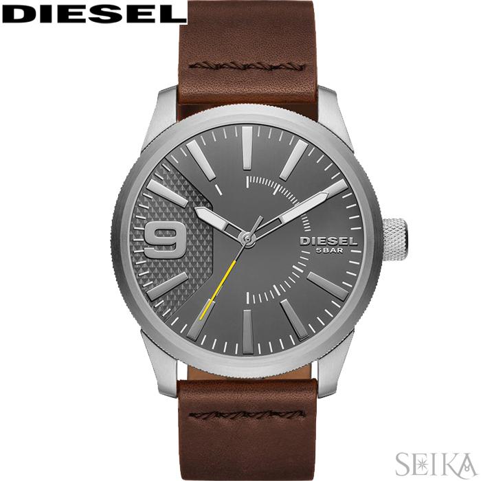 【レビューを書いて5年保証】【スプリングクリアランス】ディーゼル DIESEL DZ1802 ラスプ時計 腕時計 メンズ グレー ブラウン レザー 父の日