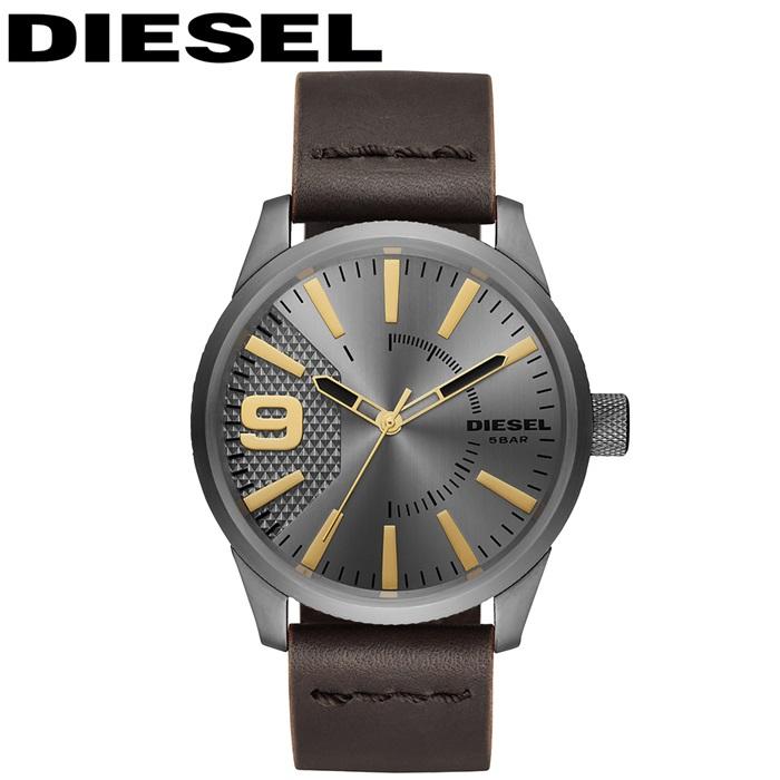 【レビューを書いて5年保証】【スプリングクリアランス】ディーゼル DIESEL DZ1843ラスプ 時計 腕時計 メンズダークブラウン ガンメタル レザー 父の日