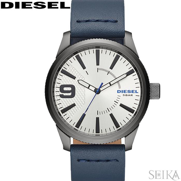 【レビューを書いて5年保証】【サマークリアランス】ディーゼル DIESEL DZ1859 ラスプ時計 腕時計 ネイビー レザー 青い腕時計 ギフト