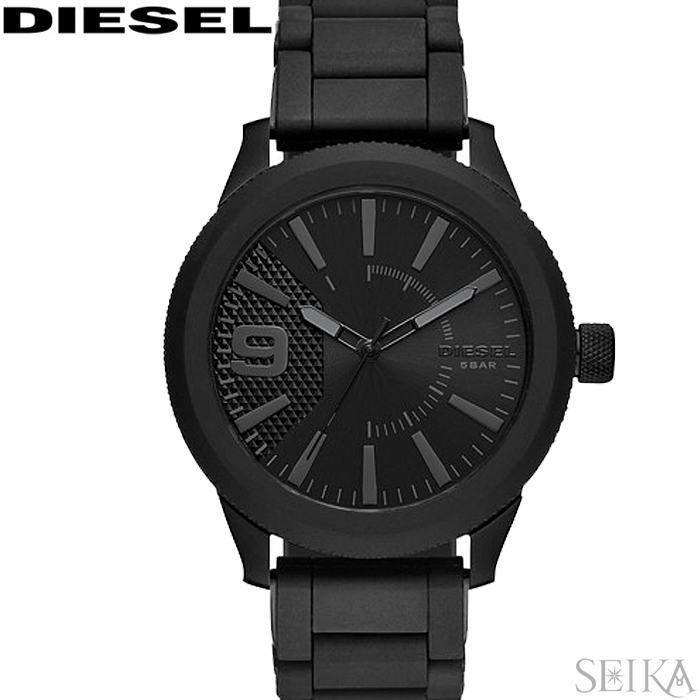 ディーゼル DIESEL DZ1873 ラスプ時計 腕時計 オールブラック