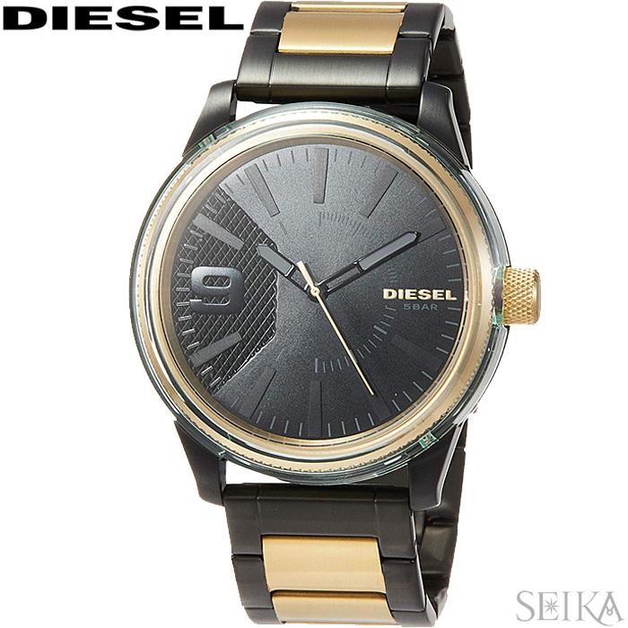 【スーパーSALE】 ディーゼル DIESEL DZ1877時計 腕時計 メンズ ブラック ゴールド 父の日