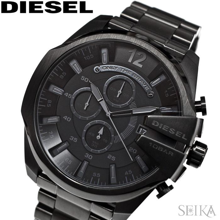 【レビューを書いて5年保証】ディーゼル DIESEL DZ4355 メガチーフ 時計 腕時計 メンズ オールブラック【3X27】 ギフト