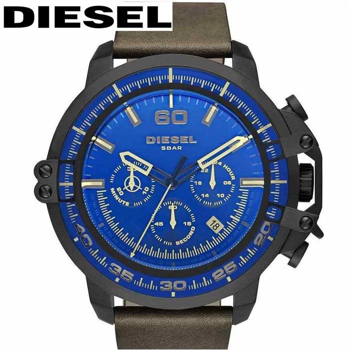 【クリアランス】ディーゼル DIESEL DZ4405デッドアイ 時計 腕時計 メンズブラック ダークグレー レザー【ID】