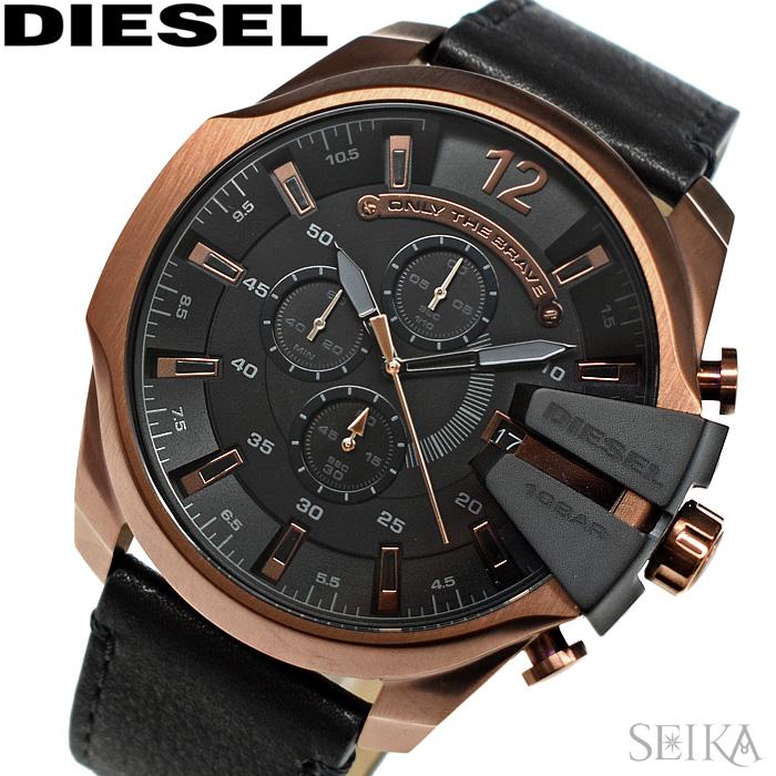 ディーゼル DIESEL DZ4459 メガチーフ時計 腕時計 メンズ ブラック レザー【2018年新作】【ID】