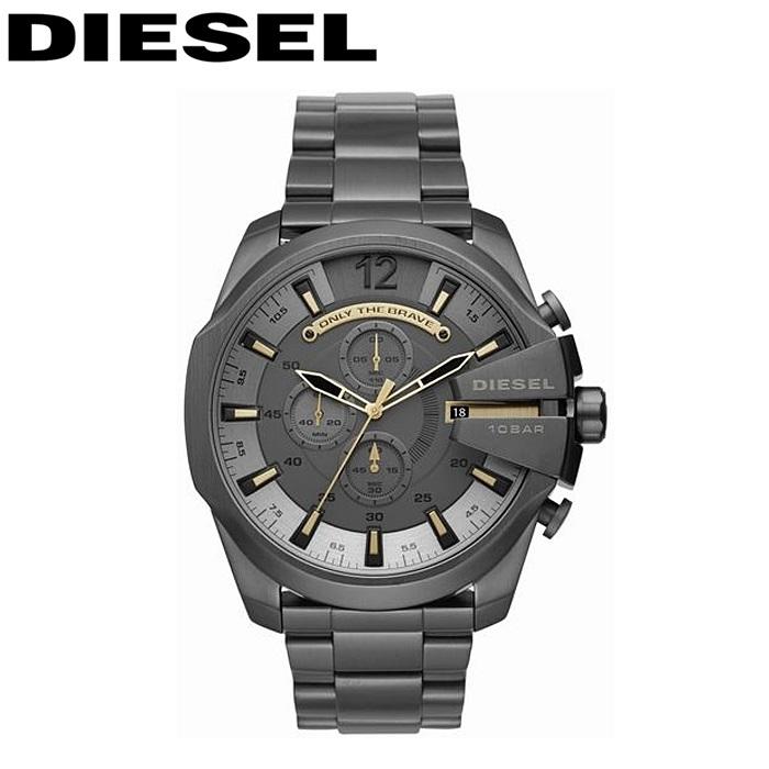 ディーゼル DIESEL DZ4466メガチーフ 時計 腕時計 メンズガンメタル ゴールド【ID】