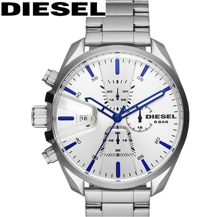 ディーゼル DIESEL DZ4473 MS9時計 腕時計 メンズ シルバー【2018年新作】【ID】