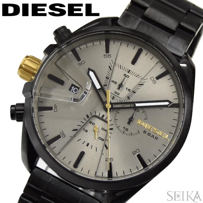 【レビューを書いて5年保証】ディーゼル DIESEL DZ4474 MS9 CHRONO 時計 腕時計 メンズ グレー ブラック【3X27】 ギフト