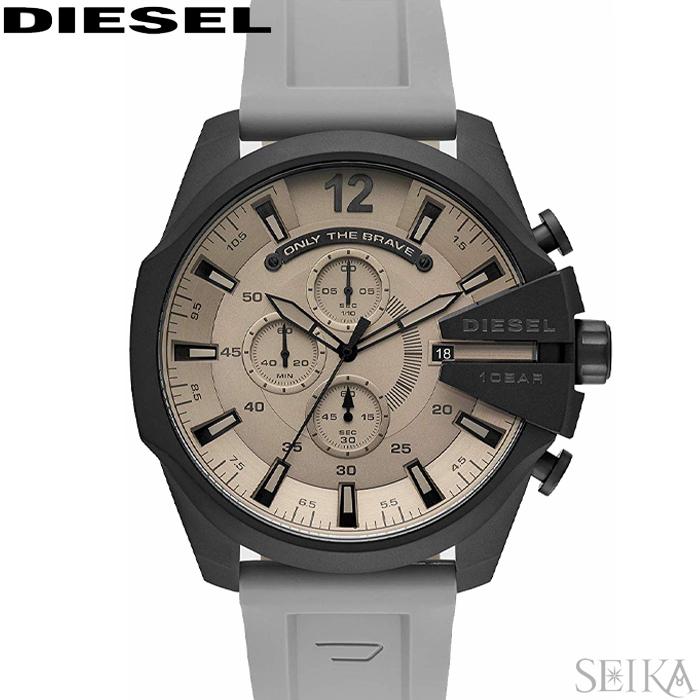 ディーゼル DIESEL DZ4496 メガチーフ時計 腕時計 メンズ グレー ラバー