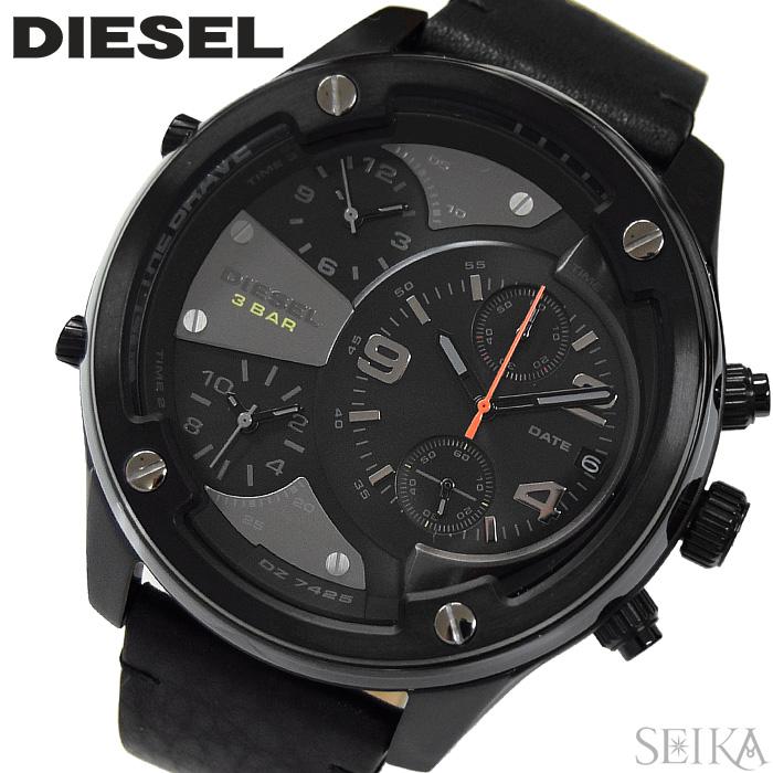 【レビューを書いて5年保証】ディーゼル DIESEL DZ7425 ボルトダウン 時計 腕時計 メンズ ブラック レザー ギフト