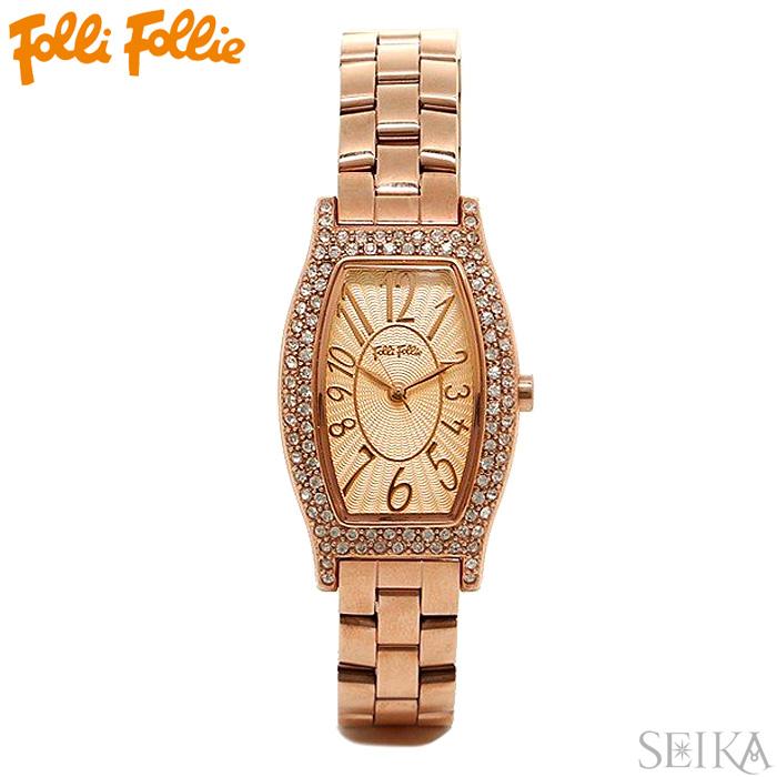 【レビューを書いて5年保証】【サマークリアランス】フォリフォリ Folli Follie WF5R084BPPレディース 時計 腕時計ピンクゴールド ステンレス ギフト