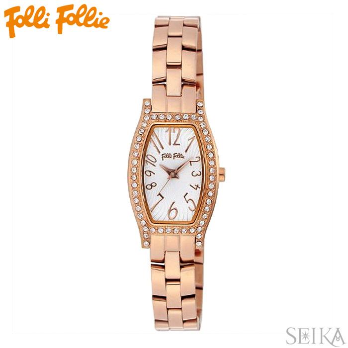 【レビューを書いて5年保証】【サマークリアランス】フォリフォリ Folli Follie WF8B026BPSレディース 時計 腕時計ピンクゴールド ホワイト ステンレス ギフト