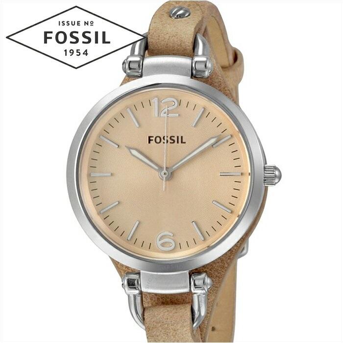 フォッシル FOSSIL ジョージア ES2830時計 腕時計 レディースベージュ レザー【ID】