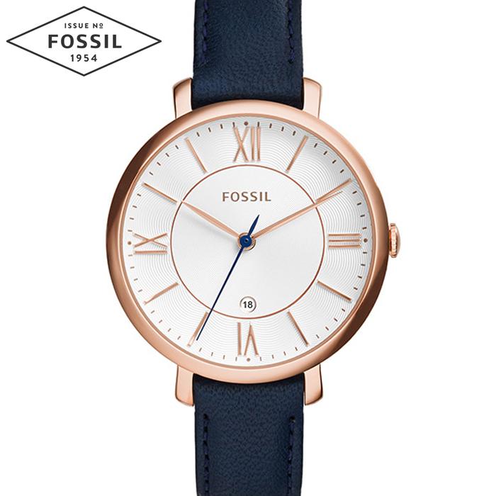 【レビューを書いて5年保証】【サマークリアランス】フォッシル FOSSIL ES3843時計 腕時計 Jacqueline レディースジャクリーン ブルー レザー ギフト