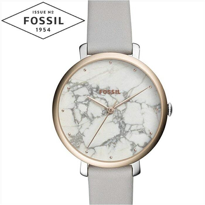 【レビューを書いて5年保証】【サマークリアランス】フォッシル FOSSIL ジャクリーン ES4377時計 腕時計 レディースホワイトマーブル グレー レザー ギフト