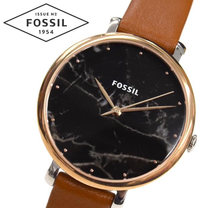 【クリアランス】フォッシル FOSSIL ジャクリーン ES4378時計 腕時計 レディースブラック(ブラックマーブル) ブラウン レザー【ID】