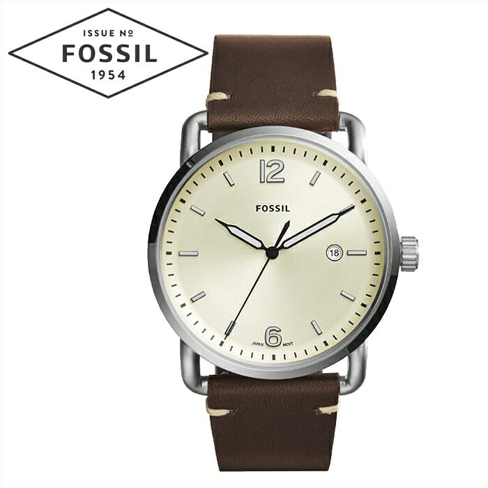 フォッシル FOSSIL FS5275時計 腕時計 メンズクリーム ダークブラウン レザー COMMUTER