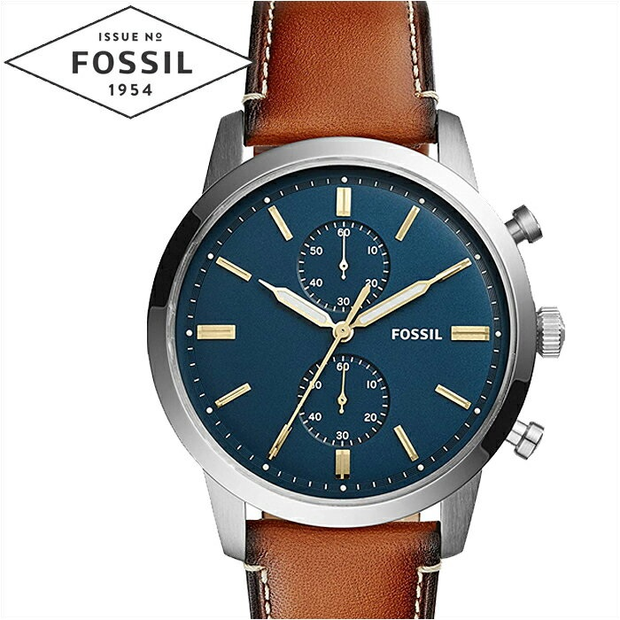【クリアランス】フォッシル FOSSIL タウンズマン FS5279時計 腕時計 メンズネイビー ブラウン レザー