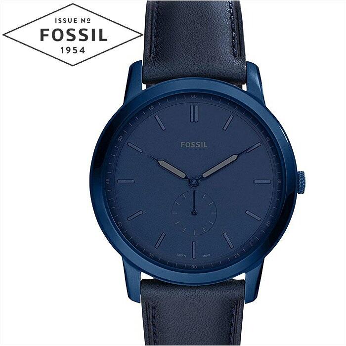 フォッシル FOSSIL ミニマリストモノ FS5448時計 腕時計 メンズ ブルー レザー
