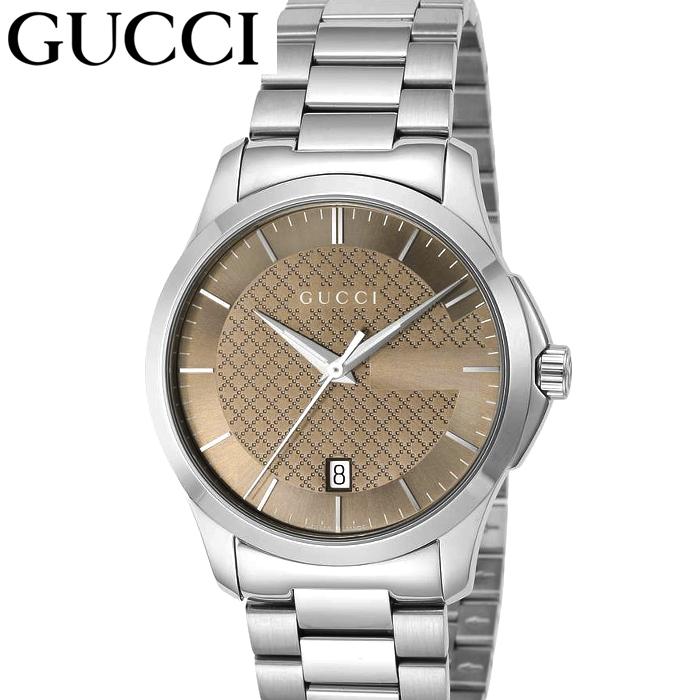 (特典付き!)グッチ GUCCI GタイムレスYA126445 時計 腕時計 メンズ ブラウン