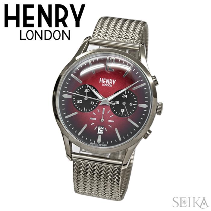 大きい割引 ヘンリーロンドン HENRY HENRY LONDON 時計 メンズ 41mm メッシュHL41-CM-0037(40)HL41-CM-0101(85)ウォッチ 41mm メンズ, 瀬高町:9666de4f --- konecti.dominiotemporario.com