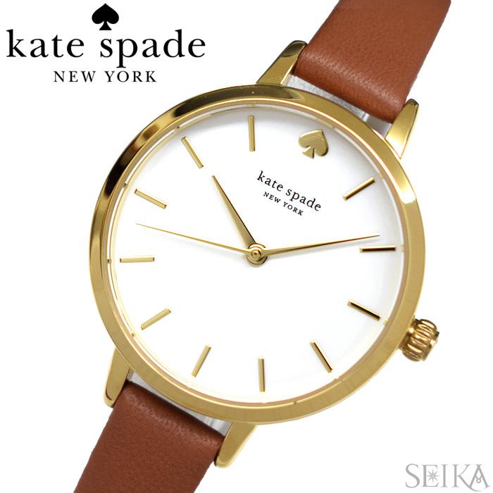 【レビューを書いて5年保証】ケイトスペード Kate spade (27)KSW9006 メトロ 時計 腕時計 レディース ゴールド ブラウン レザー【3X27】 ギフト