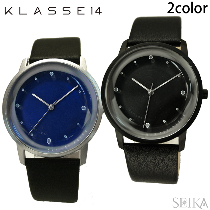 【レビューを書いて5年保証】【サマークリアランス】クラス14 KLASSE14 DAN TOMIMATSU時計 腕時計 メンズ レディース レザー 40mmFO14SR003M(21) ブルー FO14BK001M(24) ブラック ギフト