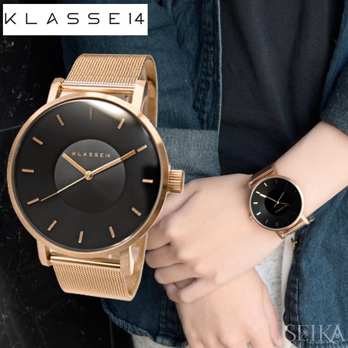クラス14 KLASSE14 ダークローズ時計 腕時計 メンズ レディース メッシュブラック ピンクゴールド VO16RG006M(49) 42mm VO16RG006W(50) 36mm