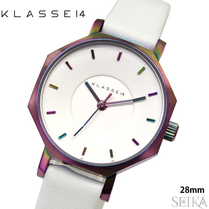 クラス14 KLASSE14 オクト ヴォラーレ時計 腕時計 レディース レザー 28mmホワイト レインボー OK17TI002S(70)