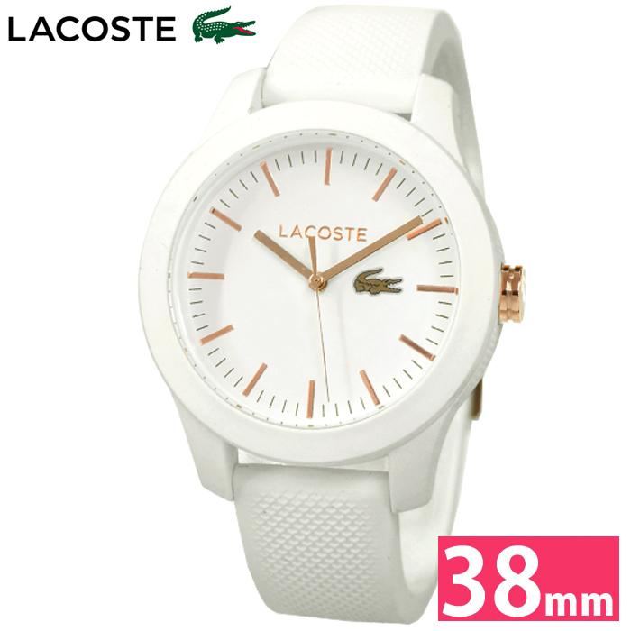 ラコステ LACOSTE 2000960 (79)時計 腕時計 レディースホワイト ピンクゴールド ラバー
