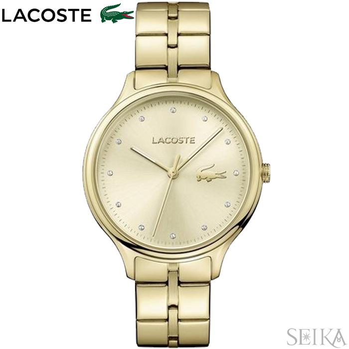 【レビューを書いて5年保証】【サマークリアランス】ラコステ LACOSTE 2001008(191)時計 腕時計 レディース ゴールド【0703】 ギフト