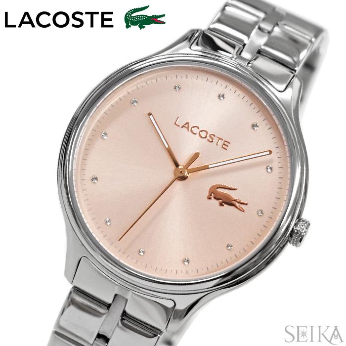 【スーパーSALE】 ラコステ LACOSTE 2001031(193)時計 腕時計 レディース ピンク シルバー