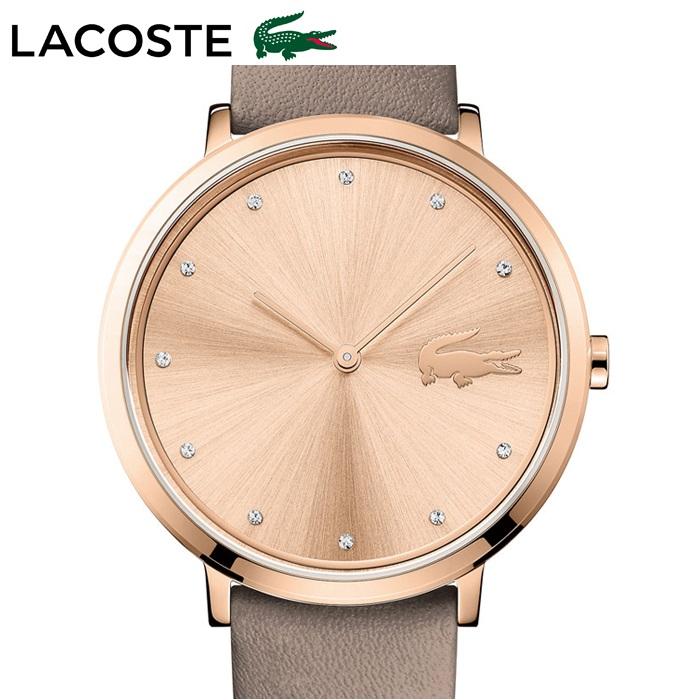 ラコステ LACOSTE 2001039(115)時計 腕時計 レディースピンクゴールド チャコールブラウン レザー