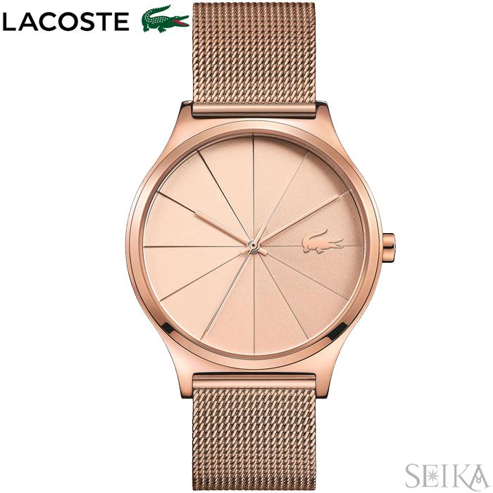 【レビューを書いて5年保証】【サマークリアランス】ラコステ LACOSTE 2001043(196)時計 腕時計 レディース ピンクゴールド メッシュ ピンクゴールドの腕時計【0703】 ギフト