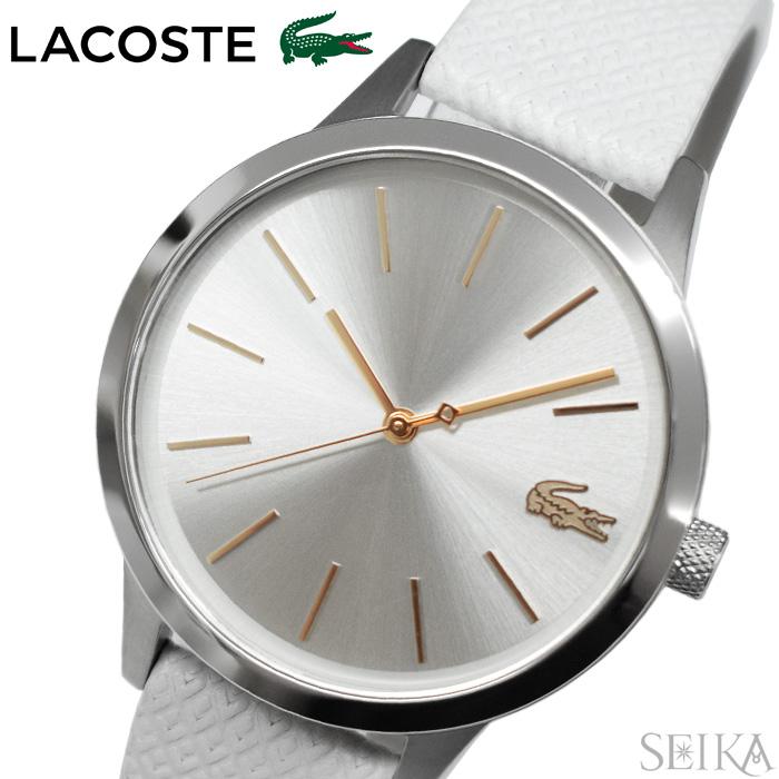 【レビューを書いて5年保証】ラコステ LACOSTE 2001089(211) 時計 腕時計 レディース ホワイト レザー ギフト